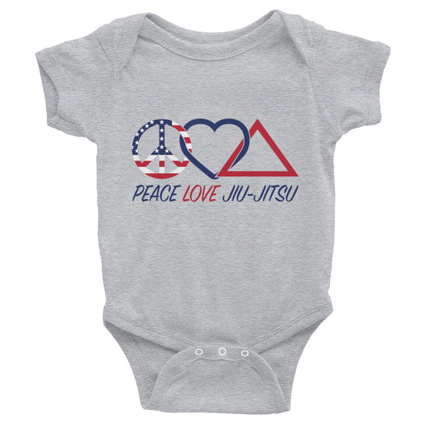 Peace Love Jiu Jitsu Infant Onesie