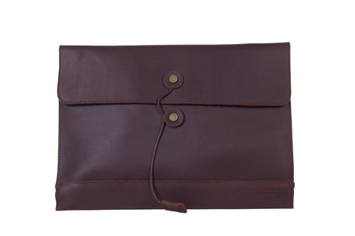 Palomino Leather Envelope Organizer - Dark Brown -  The Leatherie