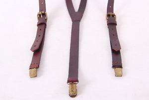 Pinot Leather Suspenders - Coffee -  The Leatherie