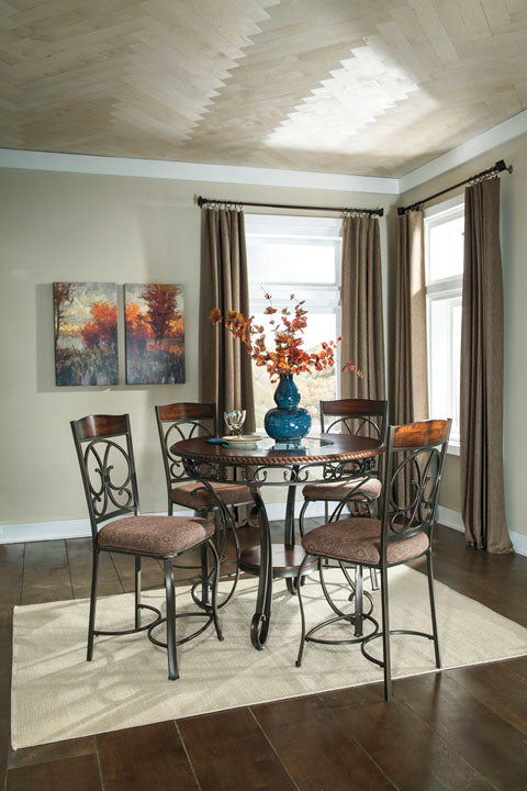 Glambrey Round Dining Set - Counter Height