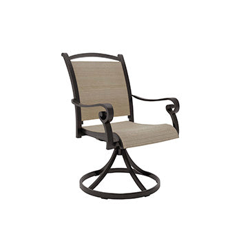 Bass Lake Outdoor Sling Swivel Chair Set
