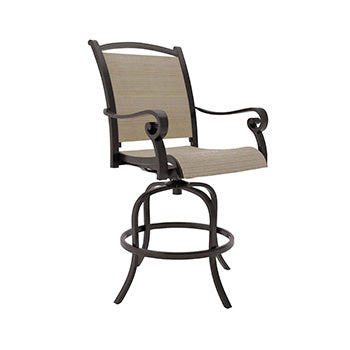 Bass Lake Outdoor Sling Barstool Set
