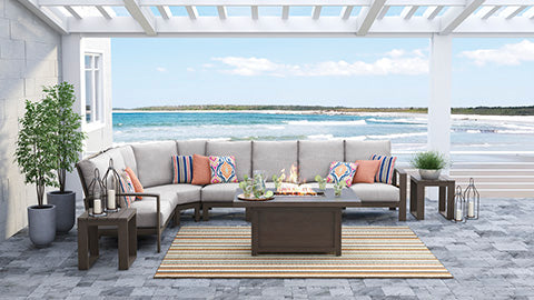 Cordova Reef Outdoor Sectional Piece-By-Piece