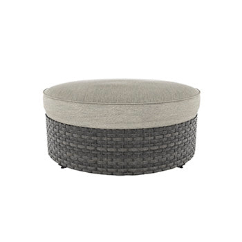Spring Dew Outdoor Ottoman with Cushion