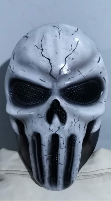 "VDA Custom Fiberglass  ""Punisher"" Full Face Mask With Mesh"