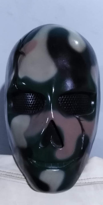 "VDA Custom Fiberglass  ""Scarface Camo A"" Full Face Mask With Mesh"