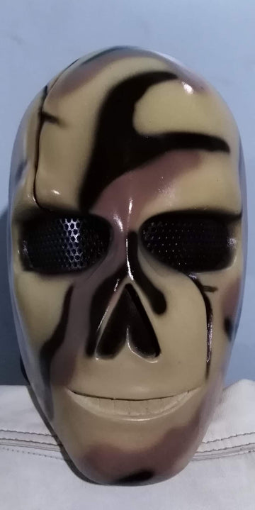 "VDA Custom Fiberglass  ""Scarface Camo B"" Full Face Mask With Mesh"