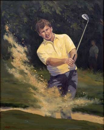Nick Faldo in the bunker