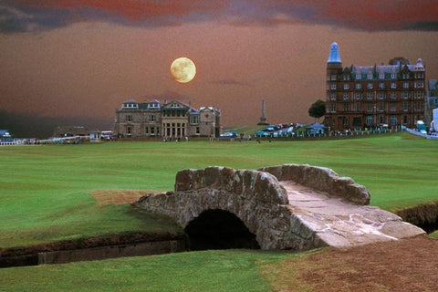 Moon over St. Andrews
