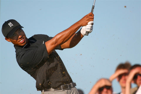 Tiger Woods in action at Royal St. Georges in 2003