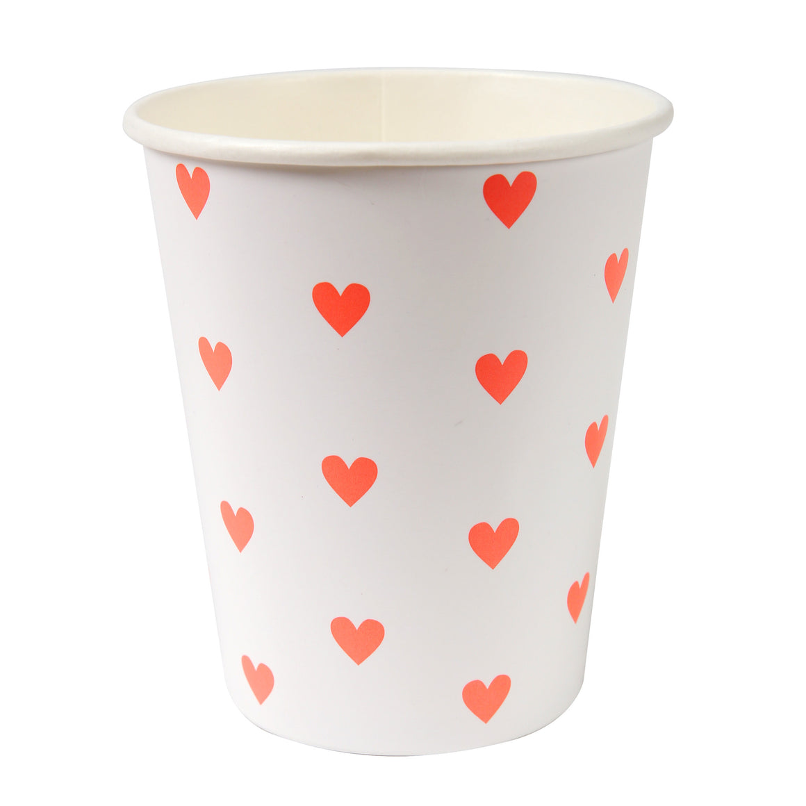 Pink Hearts Pattern Party 12 Cups