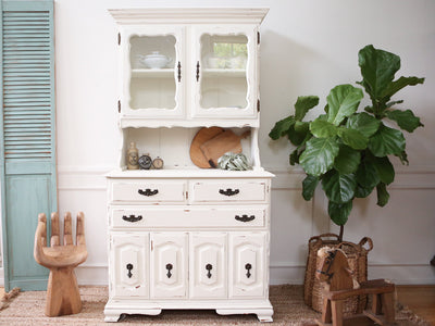 Shabby Chic French Provincial Vintage Hutch / Cabinet No160 - ShopGoldenPineapple