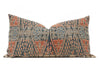 Antique Chinese Ikat wedding blanket Hand Embroidered Lumbar Pillow No TT529 - ShopGoldenPineapple