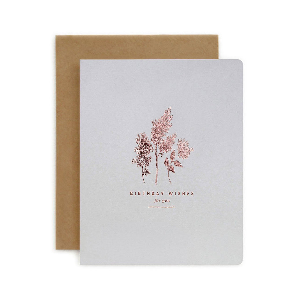 Botanical Birthday Wishes for You Card