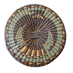 Native American Basket : Hopi Wicker Plaque : Basket 9 - Getzwiller's Nizhoni Ranch Gallery