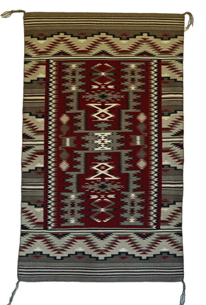 HOLD - Rug in a Rug Navajo Weaving : Mae Jean Chester : 3294 - Getzwiller's Nizhoni Ranch Gallery