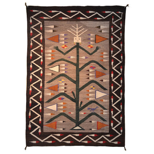 Yei Cornstalk Pictorial Navajo Weaving : Historic : GHT 2027 - Getzwiller's Nizhoni Ranch Gallery