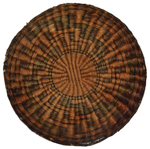 Native American Basket : Hopi Wicker Plaque : Basket 22 - Getzwiller's Nizhoni Ranch Gallery