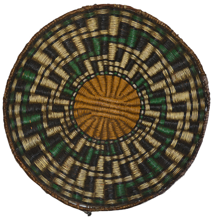 Native American Basket : Hopi Wicker Plaque : Basket 22