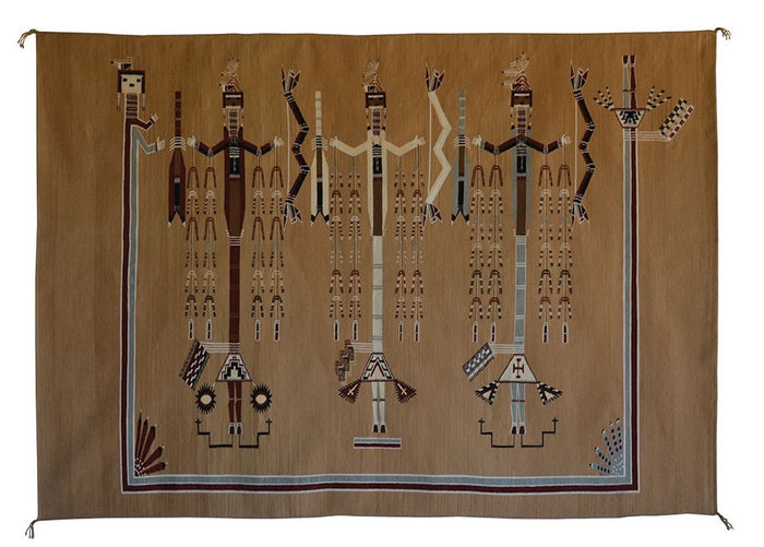 Navajo Sandpainting Weaving - Arrow People : Helene Nez : Churro 679