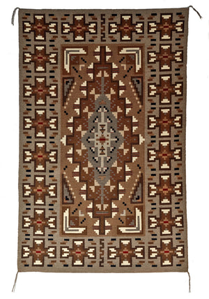 Two Grey Hill Navajo Rug by Helen Bia Churro 1591 Nizhoni Ranch Gallery