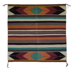 Navajo Saddle Blanket - Single : Charlott Yazzie : Nizhoni Ranch Gallery : SG 21 - Getzwiller's Nizhoni Ranch Gallery