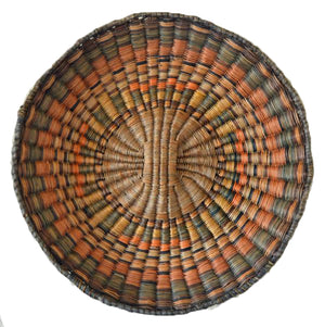 Native American Basket : Hopi Wicker Plaque : Basket 17 - Getzwiller's Nizhoni Ranch Gallery