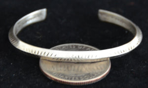 Native American Jewelry : Childs Sterling Silver Bracelet : Navajo : NAJ-54 - Getzwiller's Nizhoni Ranch Gallery