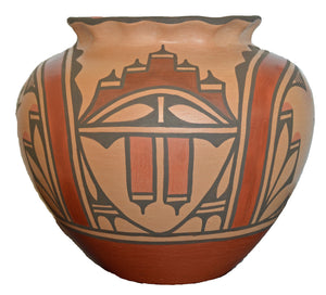 Native American: Zia Pueblo Pot : Olla: Ruby Panana: rp 32 - Getzwiller's Nizhoni Ranch Gallery