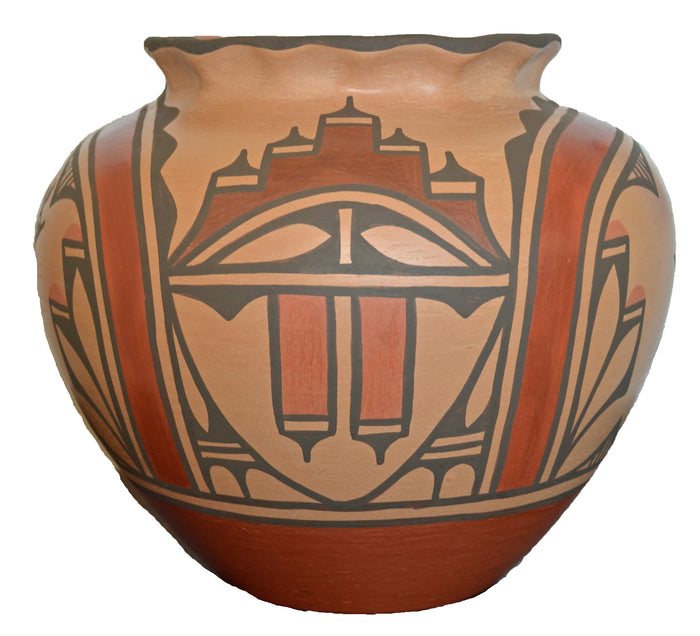 Native American: Zia Pueblo Pot : Olla: Ruby Panana: rp 32