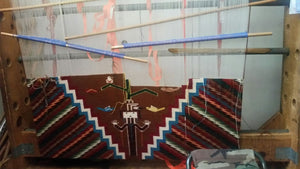 Optical Yei Navajo Rug: Selena Yazzie : Looming - Getzwiller's Nizhoni Ranch Gallery