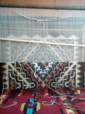 Burntwater Navajo Weaving : Cara Gorman : Looming Attractions - Getzwiller's Nizhoni Ranch Gallery