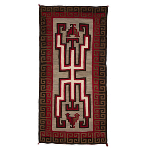Crystal Hero Twin Navajo Rug Weaving : Historic : GHT 536 - Getzwiller's Nizhoni Ranch Gallery