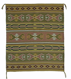 Vegetal Dyed Navajo Weaving : Gloria Bia : Churro 1597