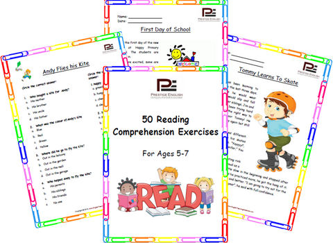 50 Reading Comprehension Exercises for Ages 5-7 (Grade 1) - SAMPLE - Download