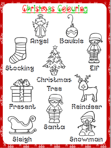 Christmas Colouring Worksheet | Free - Download