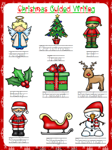 Christmas Guided Writing Worksheet | Free - Download