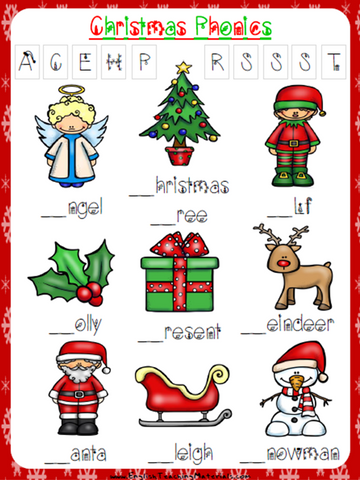 Christmas Phonics Worksheet | Free - Download