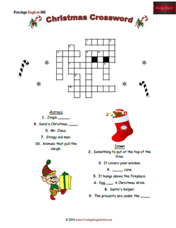 Christmas Crossword (Easy) | FREE - Download