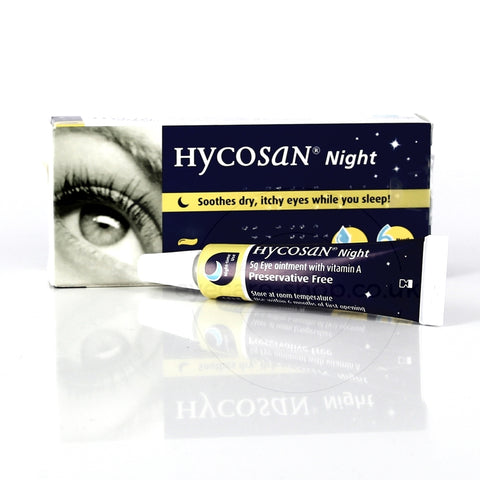 Hycosan Night Dry Eye Ointment - Overnight Treatment