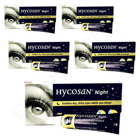 Hycosan Night Dry Eye Ointment - 5 Pack