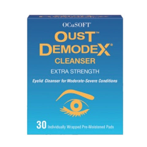 Oust Demodex Eye Lid Cleansing Wipes with Tea Tree Oil