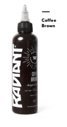 1oz Radiant Coffee Brown Tattoo Ink