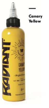 1oz Radiant Canary Yellow Tattoo Ink