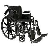 ProBasics™ Economy Flip Back Arm Wheelchair, with Footrests and Vinyl Upholstery, 265 lb Capacity