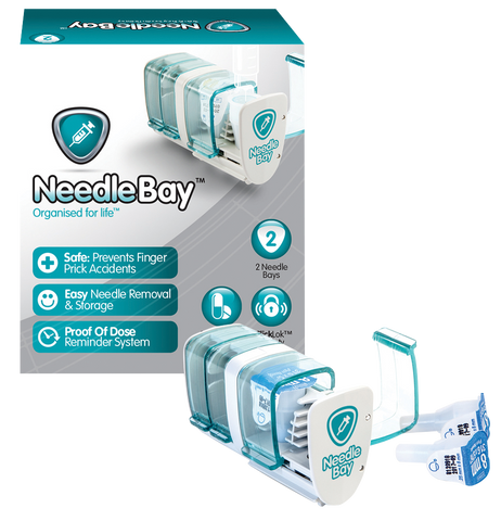 PHARMA SUPPLY NeedleBay 2 Safe Needle and Tablet Storage Medication Management System - Crescent Medical Supply