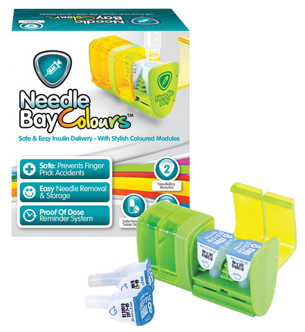 PHARMA SUPPLY NeedleBay Colour 2 Safe Needle and Tablet Storage Medication Management System - Crescent Medical Supply