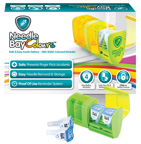 PHARMA SUPPLY NeedleBay Colour 4 Safe Needle and Tablet Storage Medication Management System - Crescent Medical Supply
