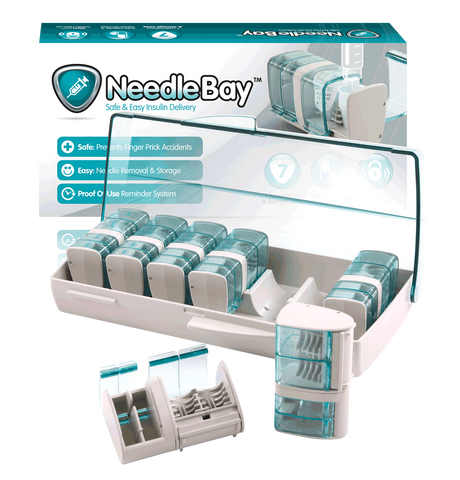 PHARMA SUPPLY NeedleBay 7 Safe Needle and Tablet Storage Medication Management System - Crescent Medical Supply