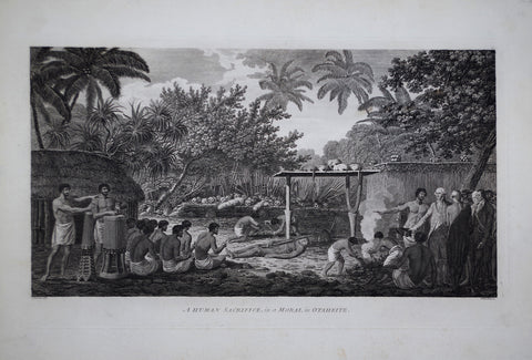 Captain James Cook (1728-1729) and John Webber (1751-1793), A Human Sacrifice in a Morai in Otaheite
